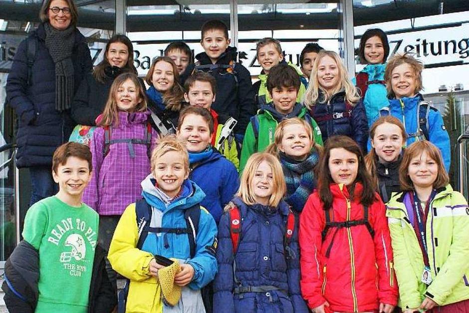 Klasse 4a der  Emil-Thoma-Schule Freiburg (Foto: Fabio Saporito)