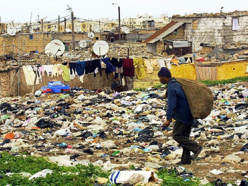 Viel Elend, wenig Hoffnung in den Slums  der marokkanischen Großstadt Casablanca    Foto: dpa/AFP