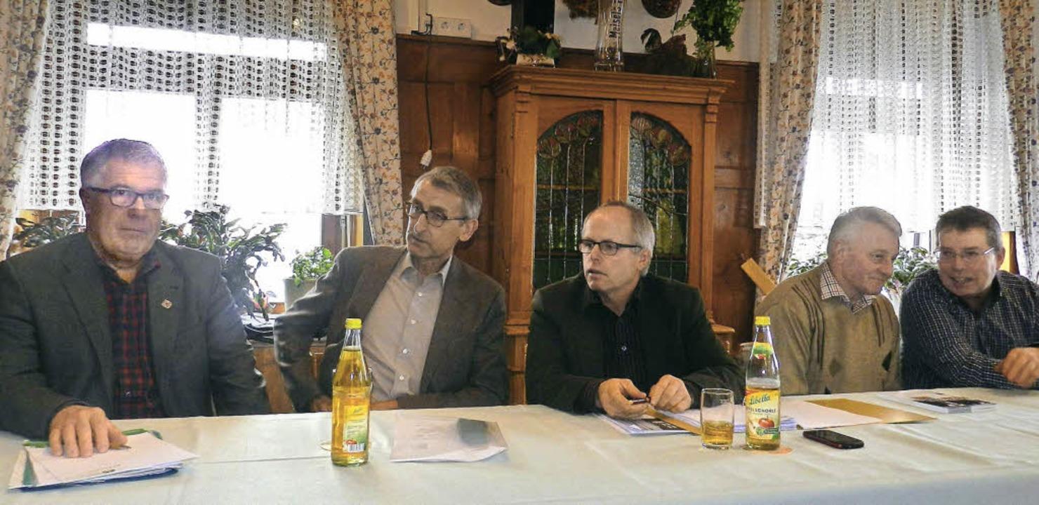 Versammlung des Badischen Landwirtscha... Werner Kuttler und Martin Pfefferle.   | Foto: Gerhard Wiezel