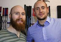 Philip Rie�le und Dennis Meyer: Im Nebenjob Eishockeyspieler