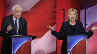 Hillary Clinton k�mpft gegen die erste Niederlage