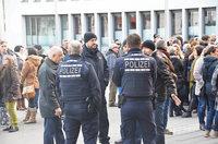 In Lahr demonstrieren Sp�taussiedler gegen Fl�chtlinge