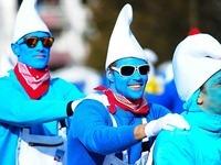 Fotos: So lustig war der Schlumpfweltrekordversuch