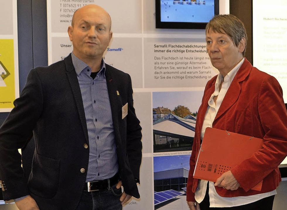 Bizzz-Vorsitzender Christian Dittrich, Bundesministerin Barbara Hendricks.   | Foto: Nikolaus Bayer