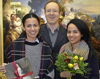 Winterhalter-Ausstellung im Augustinermuseum begr��t die 30000. Besucherin