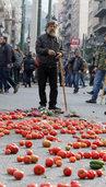 Bauern protestieren in Athen