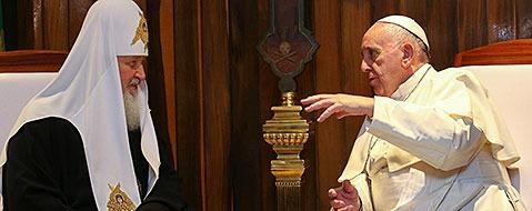 Papst trifft Patriarchen: Erstes Treffen seit fast 1000 Jahren