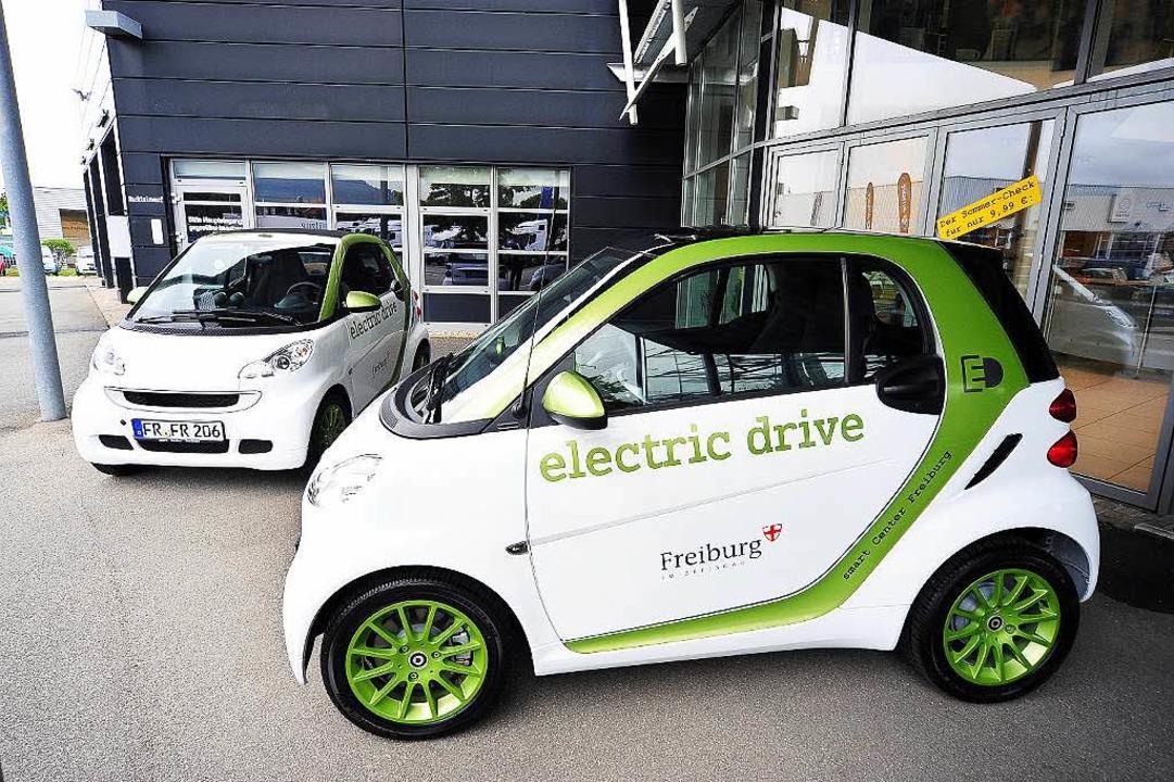 Die Stadt Freiburg will die Zahl der Elektroautos aufstocken.  | Foto: Thomas Kunz