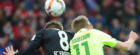 SC Freiburg unterliegt D�sseldorf mit 1:2