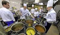 Vierg�nge-Men� beim Wettbewerb des Koch-Nachwuchses