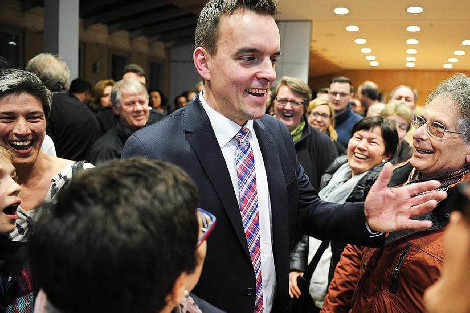 Die Bürgermeisterwahl in Friesenheim mit Sieger Erik Weide (Foto: Bettina Schaller)