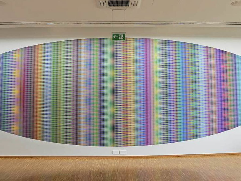 Psychedelischer Zeppelin: Tim Otto Roths Visualisierung der Zahl Pi    Foto: Ralf Burgmaier