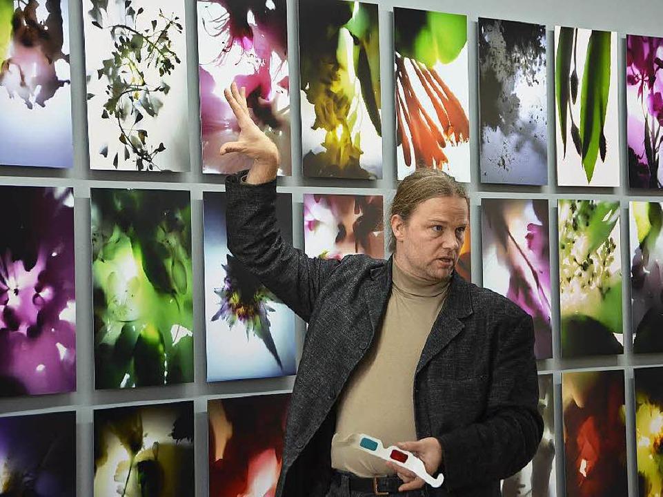 Der Künstler versteht Sinn und Sinnlichkeit zu erzeugen und zu vermitteln.    Foto: Ralf Burgmaier