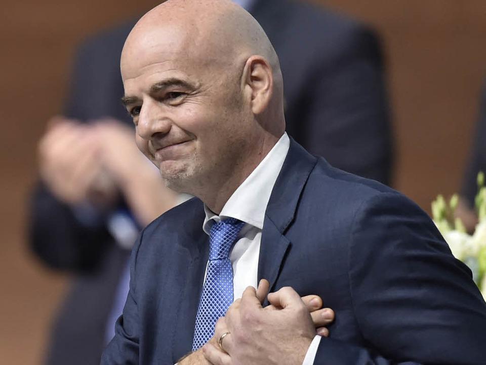 Der Schweizer Gianni Infantino ist neu...äsident des Welt-Fußballverbands Fifa.    Foto: AFP