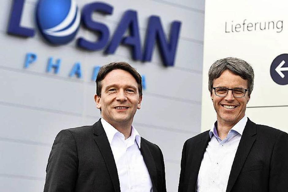 Stehen an der Losan-Spitze: Jens Morgenthaler (links) und Thomas Andresen (Foto: Thomas Kunz)