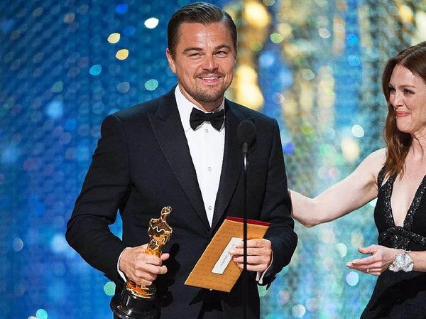 """Mit dem bildgewaltigen Abenteuerepos """"The Revenant"""" konnte sich Hollywoodstar DiCaprio als Hauptdarsteller den ersten Oscar seiner Karriere sichern."""