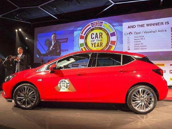 Ausgezeichnet als Car of the Year: der Opel Astra
