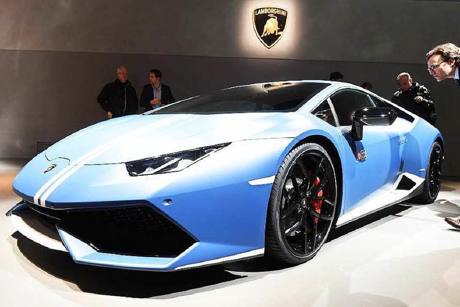 Der Lamborghini Huracan Avio ist eine spezielle Edition zum 100. Geburtstag von Firmengründer Ferrucio Lamborghini. (Foto: dpa)