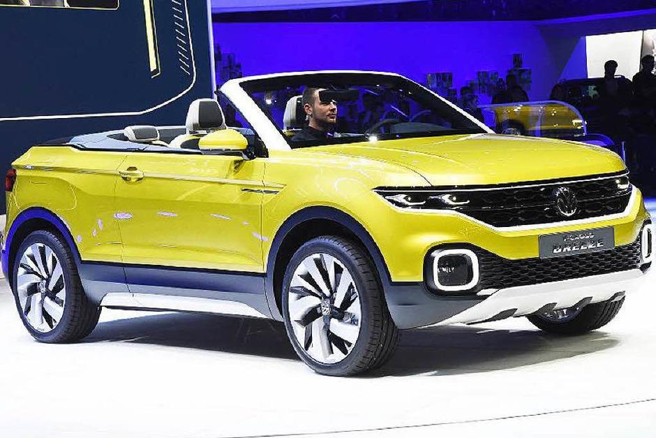Studie mit Zukunft: der  VW T-Cross Breeze, ein Geländewagen-Cabrio auf Polo-Basis (Foto: dpa)