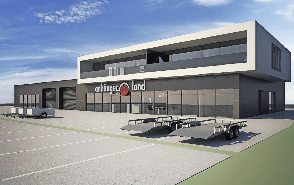 Der Verleih Anhängerland will bis 2017...em ehemaligen Güterbahnhof beziehen.    | Foto: Simulation: Privat
