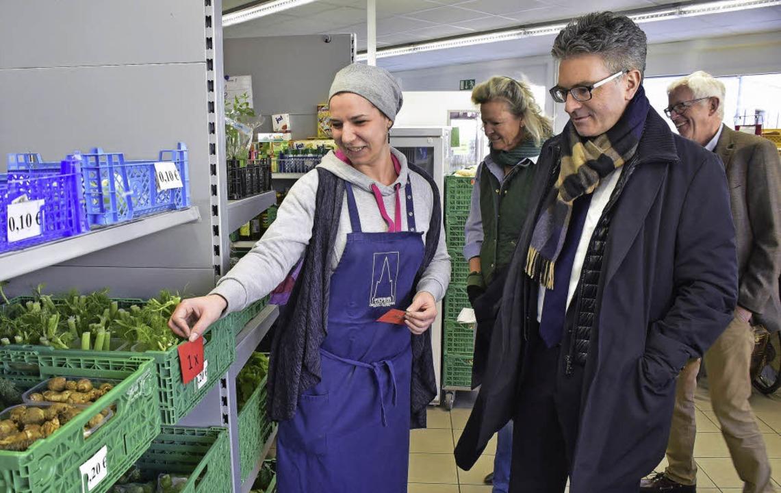 So funktioniert's, erklärt Jessi...Stellvertreter Hatto Müller zu sehen.   | Foto: Thomas Kunz