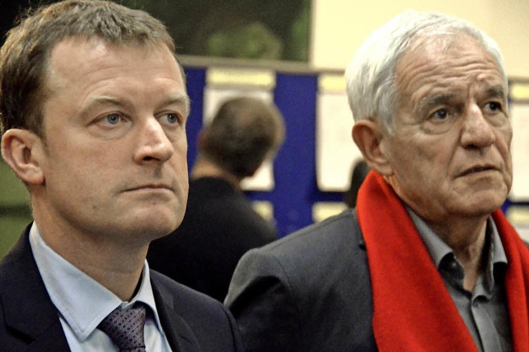 Konnten ihre Enttäuschung kaum verberg...minister Rainer Stickelberger  (SPD).   | Foto: Martin Herceg