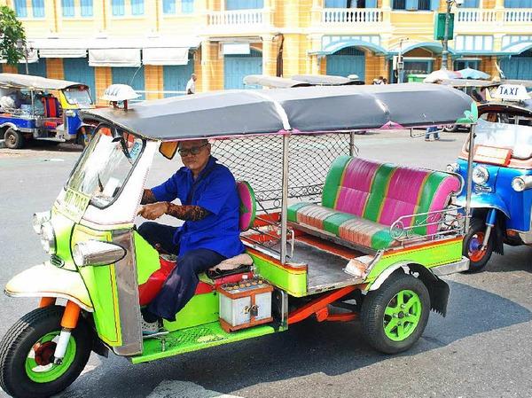 Beliebtes Fortbewegungsmittel in Bangkok