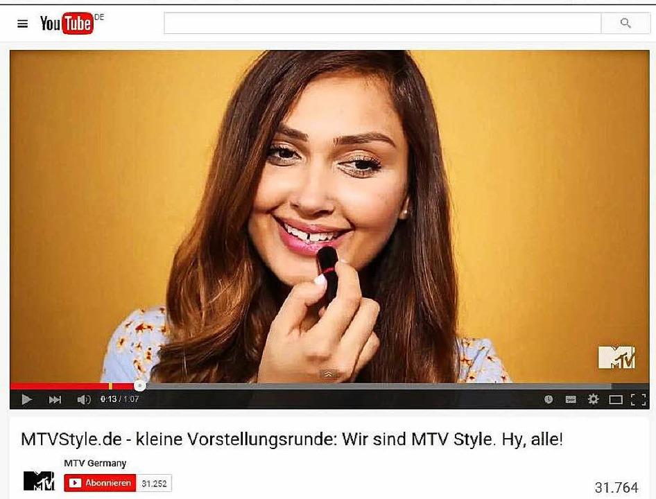 Wana Limar  in einem ihrer Youtube-Clips  | Foto: -