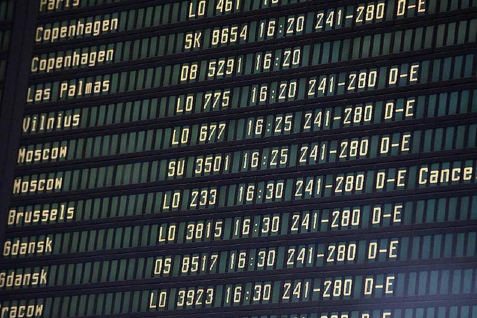 Der Flugverkehr wurde eingestellt. (Foto: dpa)
