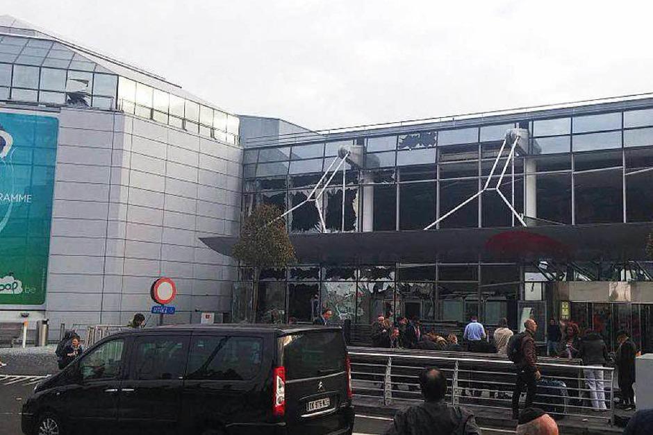 Explosionen am Flughafen (Foto: dpa)