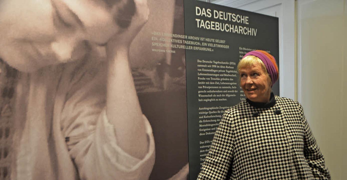 Ihr Kind ist volljährig: Frauke von Tr...nderin des Tagebucharchivs, tritt ab.     Foto: Gerhard Walser