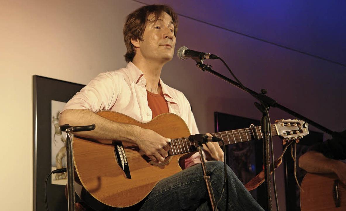 Liedermacher Jan Degenhardt bei einem seiner Auftritte   | Foto: Privat