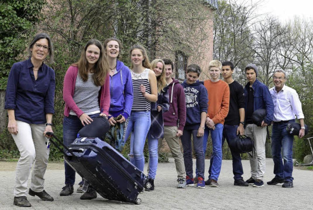 Die Lehrerin Birgit Bohsung (vorn) hat...schule St. Georgen weitervermittelt.      Foto: Ingo Schneider