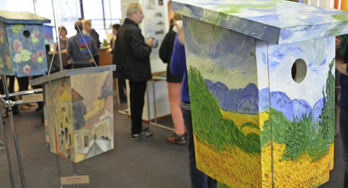 VHS-Schüler haben sich von Werken von ... Schiele und Monet inspirieren lassen.    Foto: Anika Maldacker