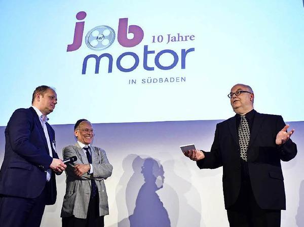 Sie haben den Jobmotor auf den Weg gebracht (von links): Bernd de Wall, Jörg Buteweg und Achim Eickhoff