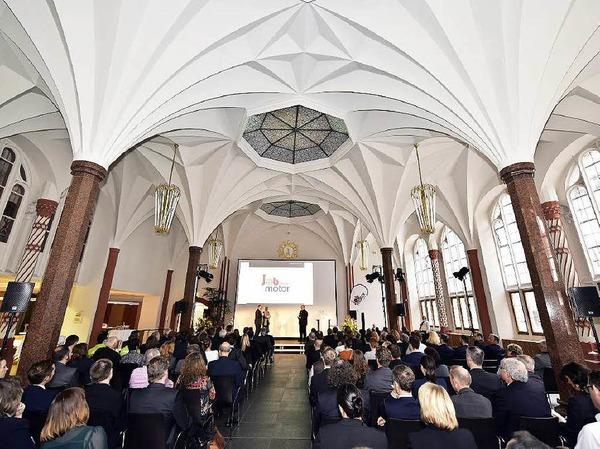 Sehr gut besucht war die Jobmotor-Preisverleihung in der Meckelhalle der Sparkasse Freiburg-Nördlicher Breisgau