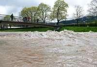 Freiburg bleibt von gro�em Hochwasser verschont