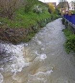 Hochwasser sp�lt Granate frei