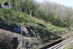 Fotos: Hangrutsch bei St.Georgen beeintr�chtigt den Zugverkehr auf der Rheintalstrecke