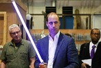 William und Harry vor Karriere als Jedi-Ritter
