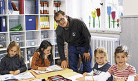 Lehrer trainiert den Weltmeister
