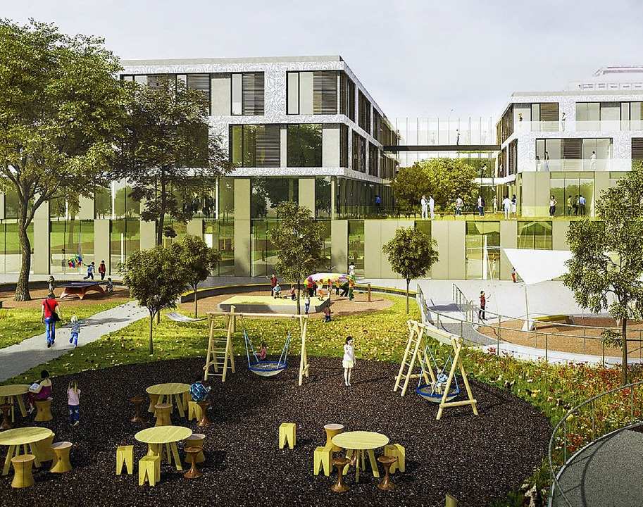Die neue Freiburger Kinderklinik soll besonders patientenfreundlich werden.   | Foto: Health Team Vienna/ dpa