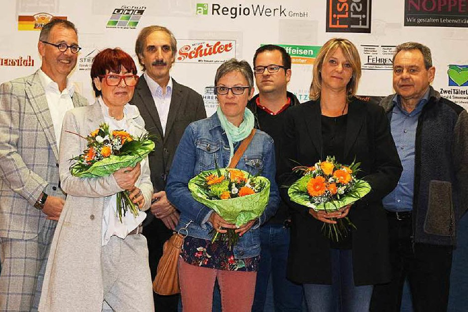 Das Organisationsteam mit Klaus Wehrle (links), dem Vorsitzenden des Gewerbevereins Gutach (Foto: Karin Heiß)