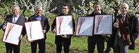 Vier Ehrenpreise f�r Jechtinger Kleinbrenner