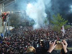 Tausende SC-Fans empfangen den Aufsteiger