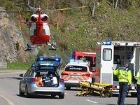 Motorradfahrer st�rzt in die Tiefe - schwer verletzt