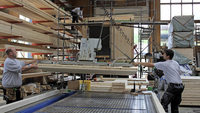 Holzgeb�ude statt Blechcontainer