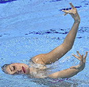 Schwimmen auf die ausdrucksvolle Art