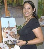 Elena Romanzin stellt Werke im Purpur in Wut�schingen aus