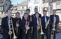 Das Brass-Ensemble L' Octuor de Cuivres d'Alsace spielt in Freiburg-G�nterstal